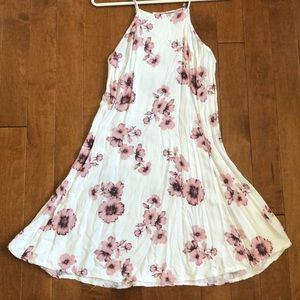Brandy Melville Pink & White Floral Dress